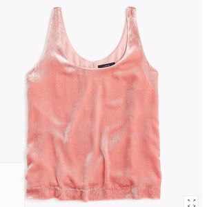 J. Crew Copper Rose Velvet Tank S